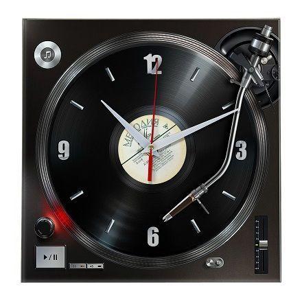 Часы Грампластинка стеклянные