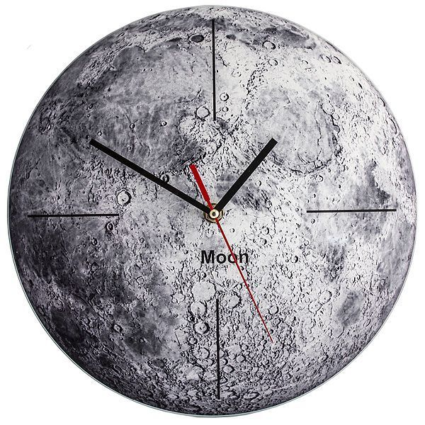 Часы Луна d=28см стеклянные