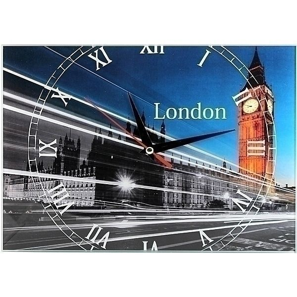 Часы Лондон (London) 20х28 стеклянные