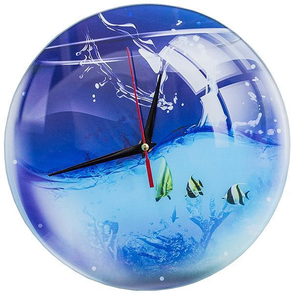 Часы настенные Аквариум стекло