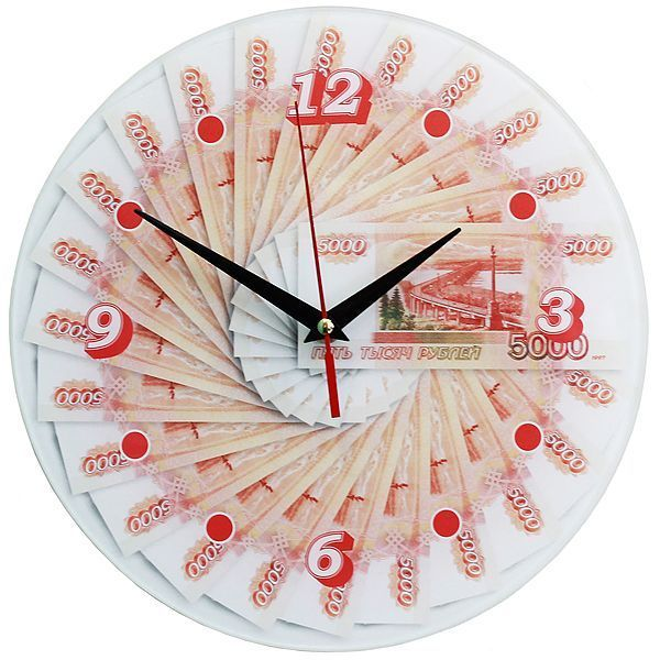 Часы настенные 5000 руб стекло