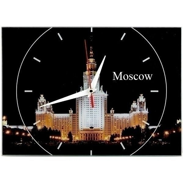 Часы Москва (Moscow) 20х28 стеклянные