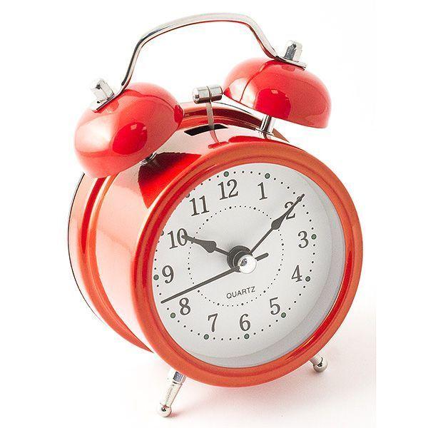 Часы настольные D=7 см красный цвет