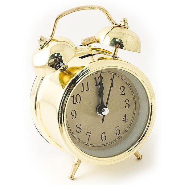 Часы настольные D=7 см золотой цвет