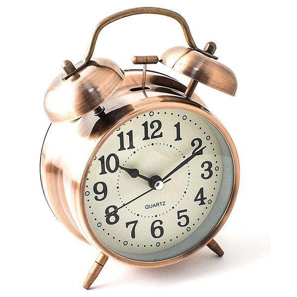Часы настольные D=10 см медный цвет