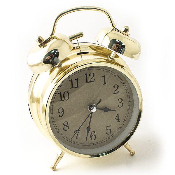 Часы настольные D=10 см золотой цвет