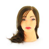 """DEWAL Голова учебная """"шатенка"""", протеин. волосы 30-40 см"""