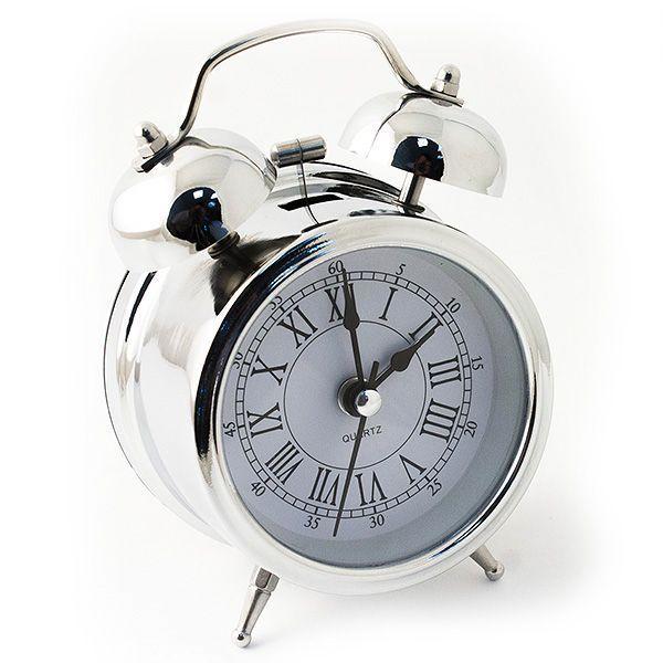Часы настольные D=7 см цвет хром