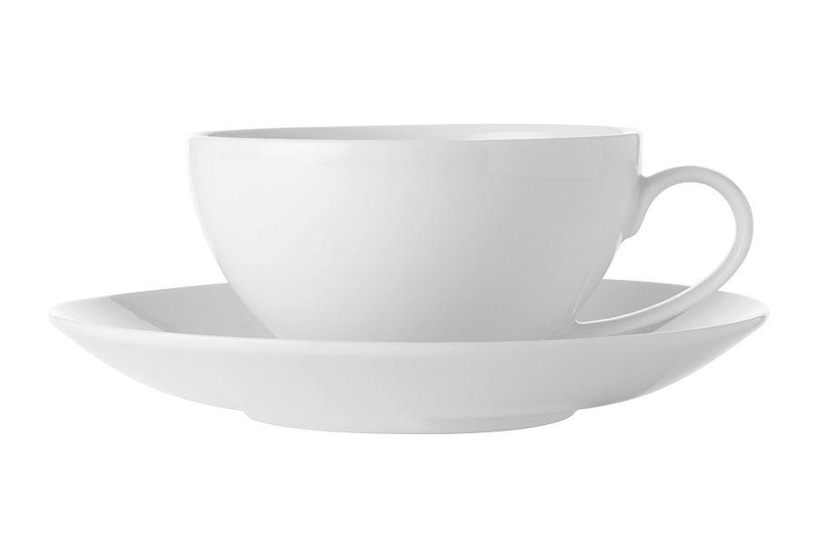 """Чашка с блюдцем """"Белая коллекция"""", 0.25 л, без упак."""