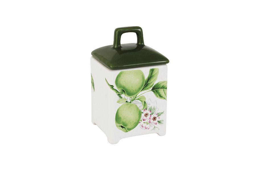 """Банка для сыпучих продуктов """"Зеленые яблоки"""", малая, 13 см"""
