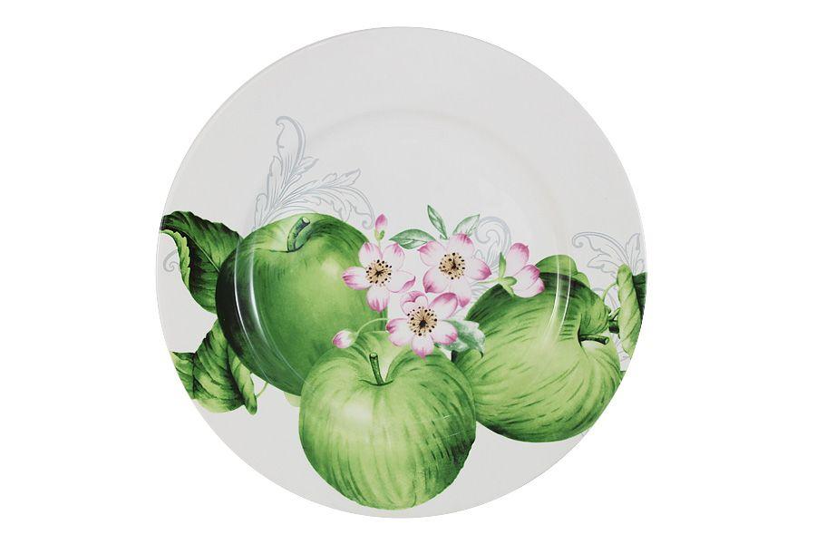 """Тарелка обеденная """"Зеленые яблоки"""", 27 см"""