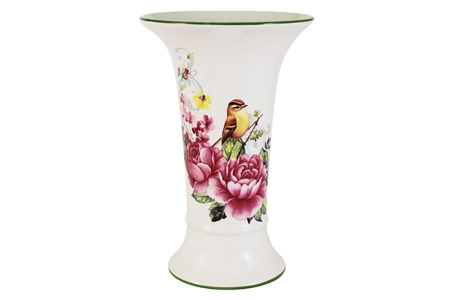 """Ваза для цветов """"Цветы и птицы"""", 21.5 см"""
