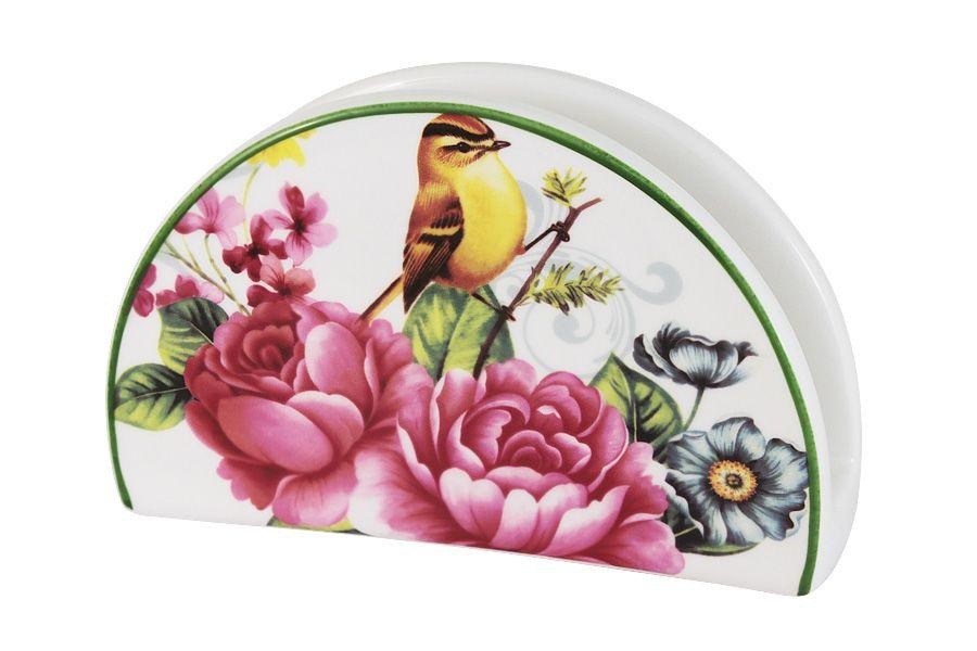 """Салфетница """"Цветы и птицы"""", 16 см"""