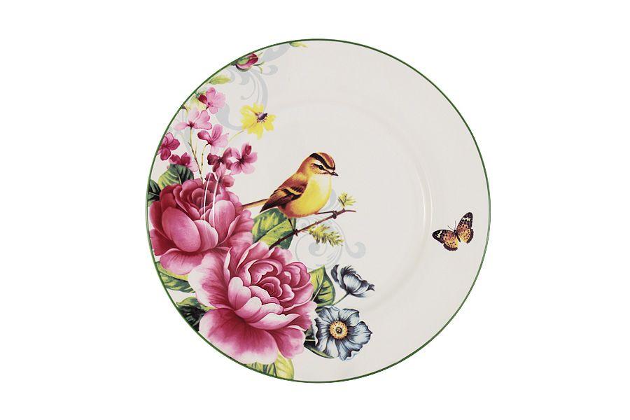 """Тарелка """"Цветы и птицы"""", 23 см"""