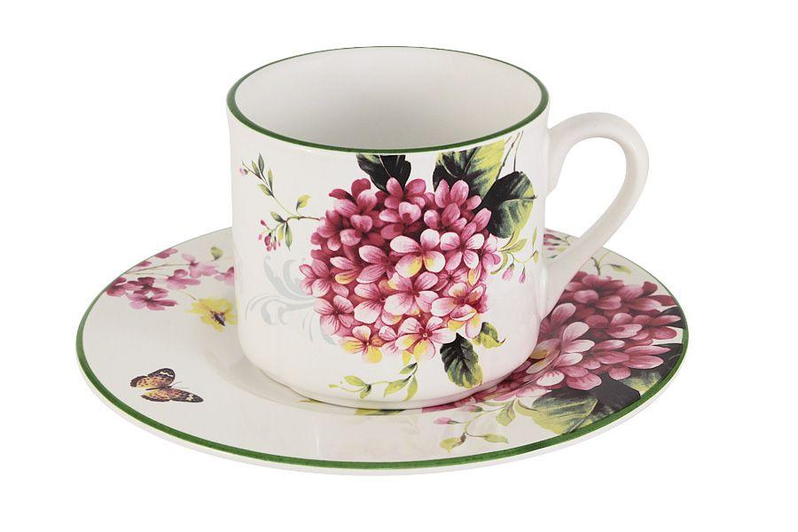"""Чашка с блюдцем """"Цветы и птицы"""", 0.25 л"""