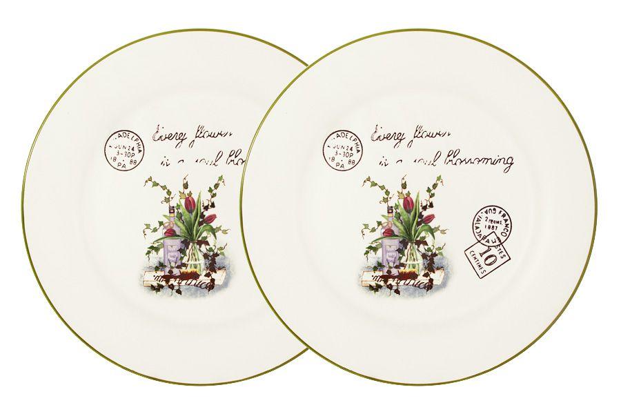 """Набор из 2-х обеденных тарелок """"Букет"""", 25 см"""