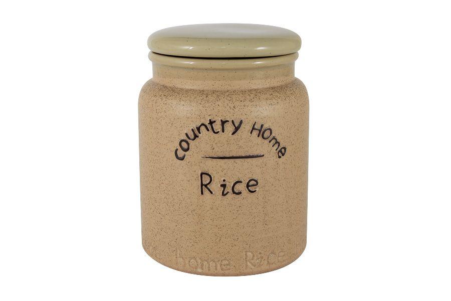 """Банка для сыпучих продуктов (рис) """"Кантри Хоум"""", 16 см, 1 л"""