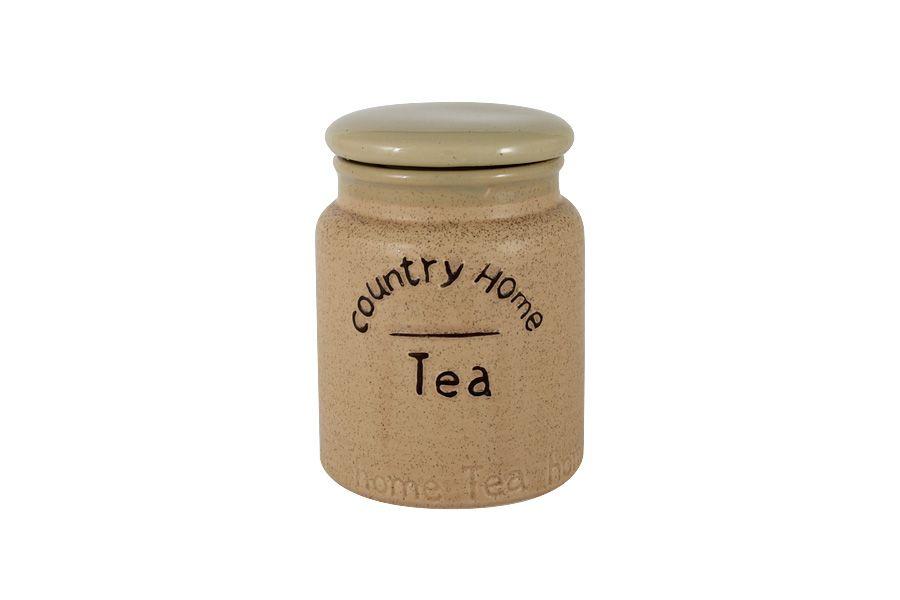 """Банка для сыпучих продуктов (чай) """"Кантри Хоум"""", 13.5 см, 0.65 л"""