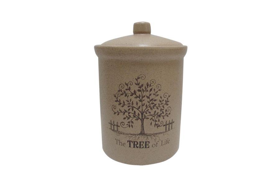 """Банка для сыпучих продуктов маленькая """"Дерево жизни"""", 14 см"""