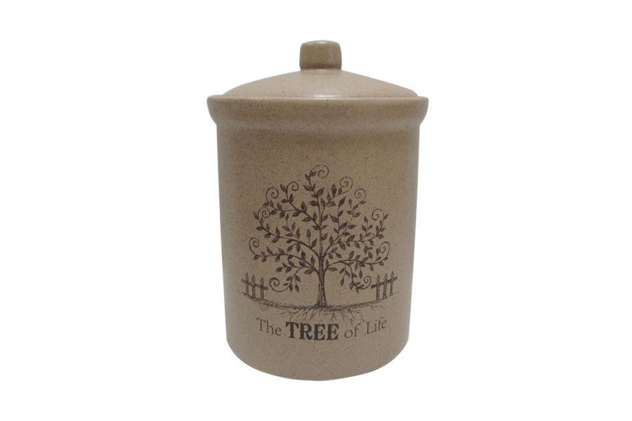"""Банка для сыпучих продуктов средняя """"Дерево жизни"""", 16 см"""