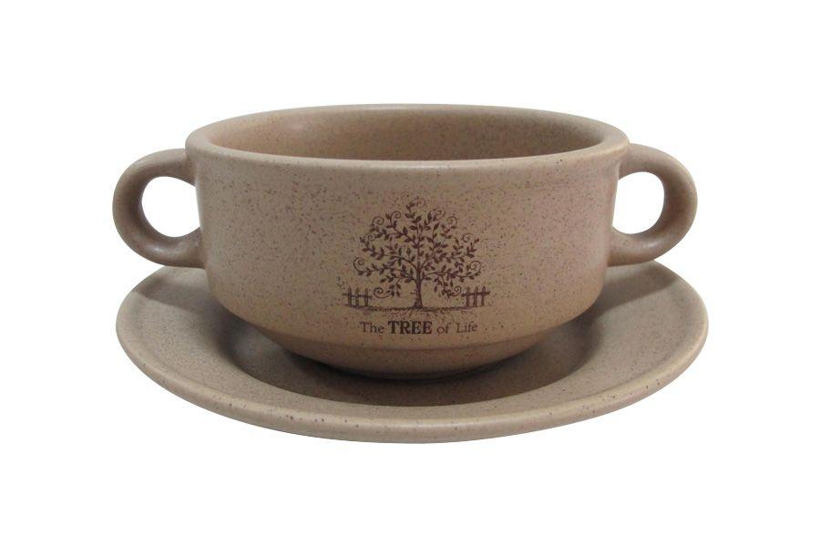 """Суповая чашка на блюдце """"Дерево жизни"""", 0.3 л"""