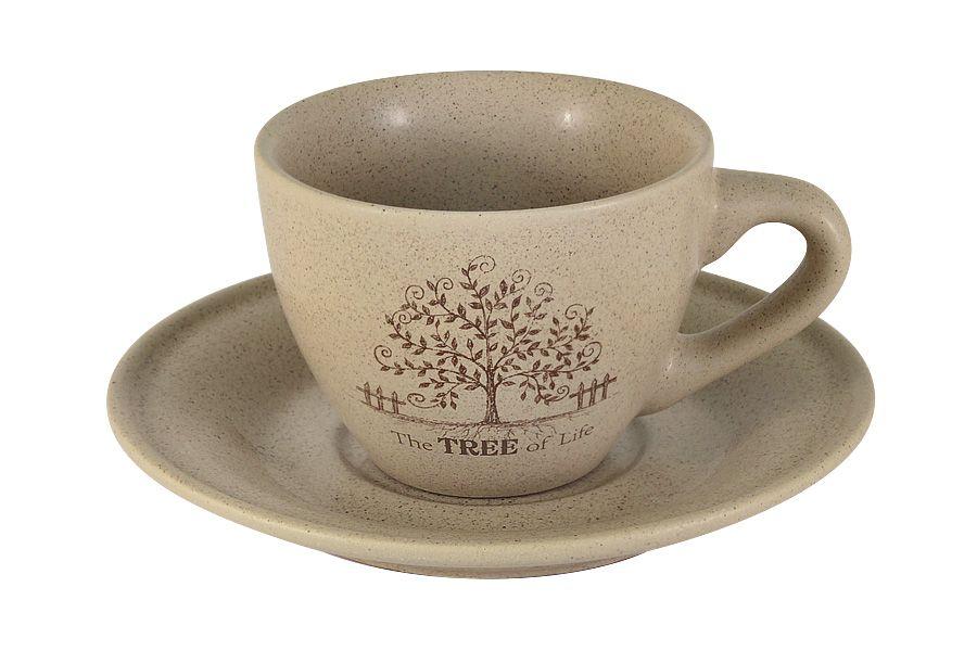 """Чашка с блюдцем """"Дерево жизни"""", 0.2 л"""