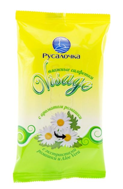 Влажн.салф.VISAGE освежающие с ароматом ромашки (15шт)*48