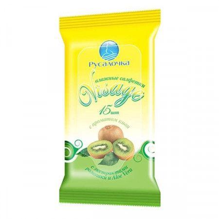 Влажн.салф.VISAGE освежающие с ароматом киви (15шт)*48