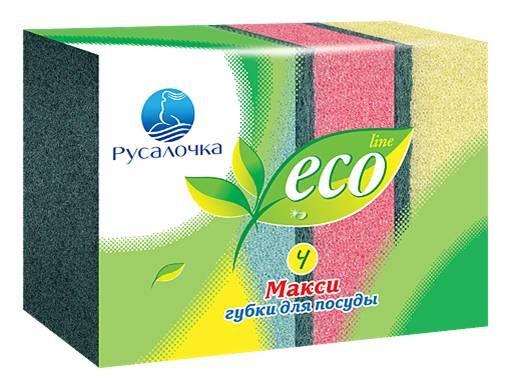 Губки для посуды Русолочка ECO LANE Макси (4шт)*40