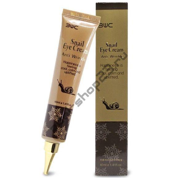 3W Clinic - Антивозрастной крем для кожи вокруг глаз с экстрактом слизи улитки - Snail Eye Cream Anti-Wrinkle