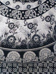 Длинная юбка с запахом, чёрно-белая (Москва)