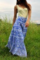Индийская юбка с запахом