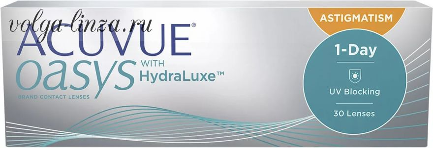 ACUVUE OASYS 1-Day with HydraLuxe™ for Astigmatism 30 линз