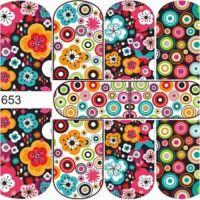 Sofia Слайдер для ногтей, N653 цветы/абстракция