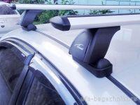 Багажник на крышу Renault Megane 2, Lux, крыловидные дуги