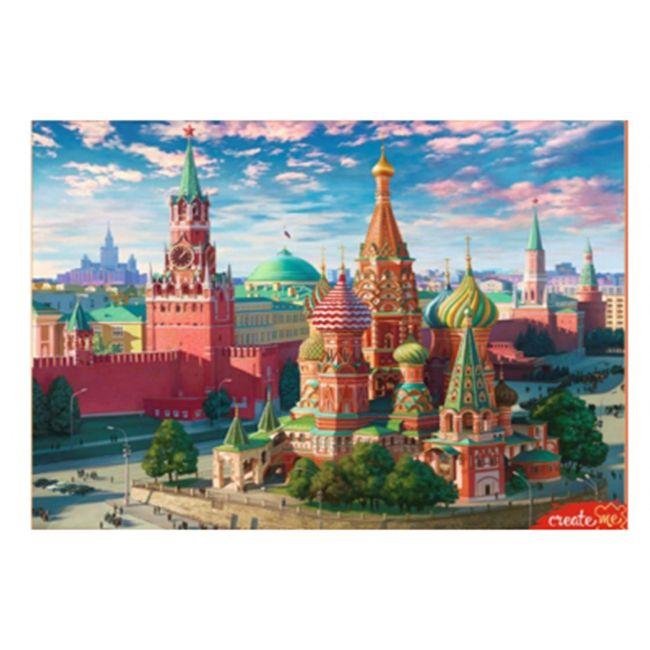 Роспись по холсту Москва Красная площадь 40х50см