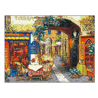 Роспись по холсту Переулок в Италии 30х40см