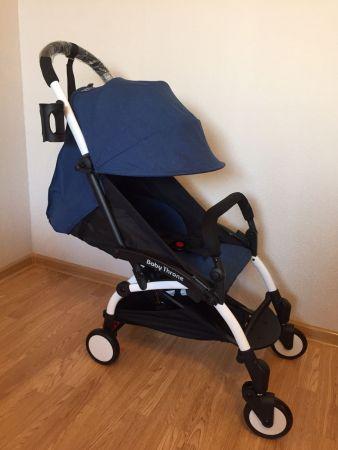 Прогулочная коляска Baby Throne (Синяя)