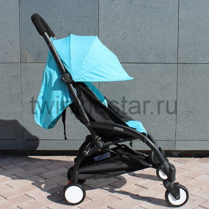 Прогулочная коляска YoYa 175 меланж голубой + 11 подарков