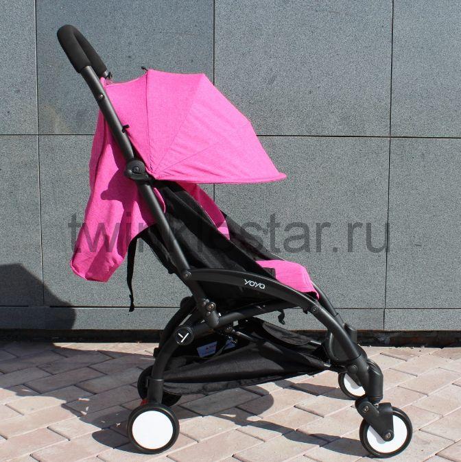 Прогулочная коляска YoYa 175 меланж ярко-розовый + 11 подарков