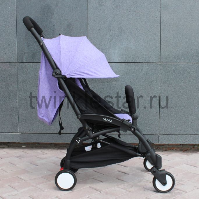 Прогулочная коляска YoYa 175 меланж фиолетовый + 11 подарков
