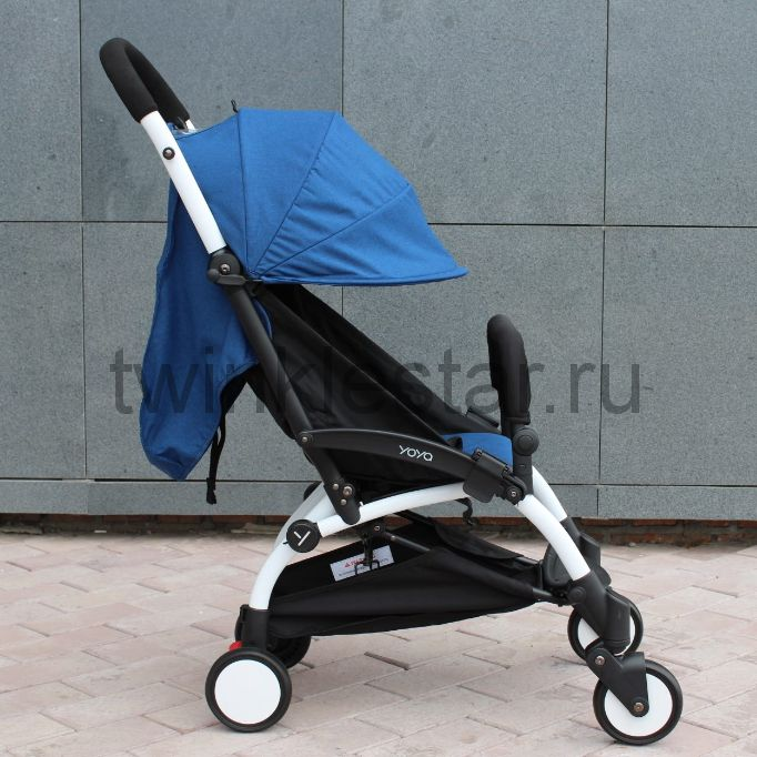 Прогулочная коляска YoYa 175 меланж синий + 11 подарков