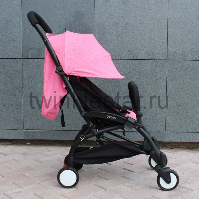 Прогулочная коляска YoYa 175 меланж розовый + 11 подарков