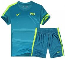 Форма футбольная Nike T90 голубая