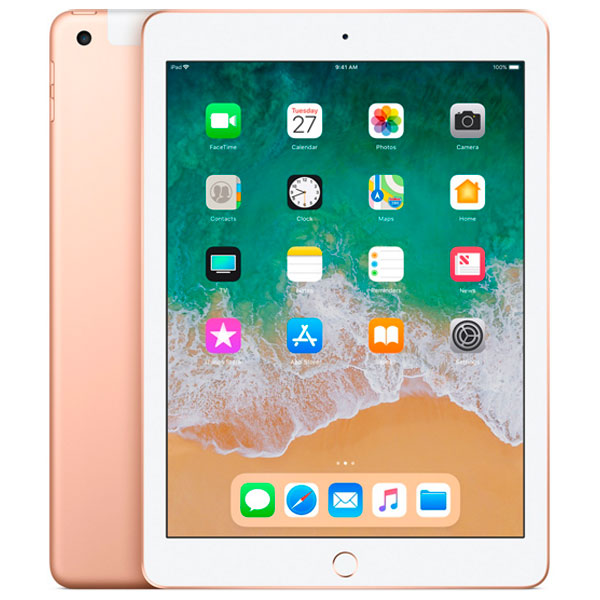 Apple iPad (2018) 128 ГБ Wi-Fi + Cellular Золотой