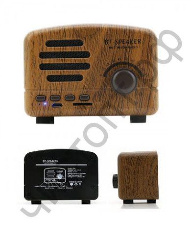 Колонка универс.с радио FT-01BT (5W,TF, FM,bluetooth, аккум.) Ретро дизайн. Звук ++++ СУПЕРЦЕНА !!!