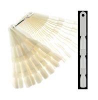 Палитра-веер на кольце тройная матовая (150 шт) для образцов