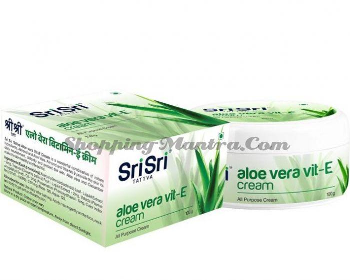 Крем для лица Алоэ Вера и Витамин Е Шри Шри Таттва   Sri Sri Tattva Aloe Vera & Vit. E Cream