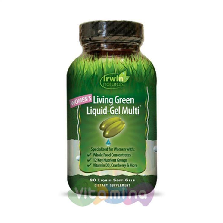 Irwin Naturals Мультивитаминный комплекс для женщин Living Green, 90 капсул