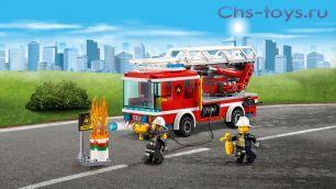 Конструктор BELA Cities Пожарный автомобиль с лестницей 10828 (Аналог LEGO City 60107) 225 дет